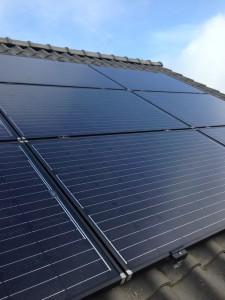 Schuin dak SolarWorld panelen