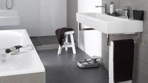 Mooie moderne badkamer, kom langs bij de Baderie in Wormer